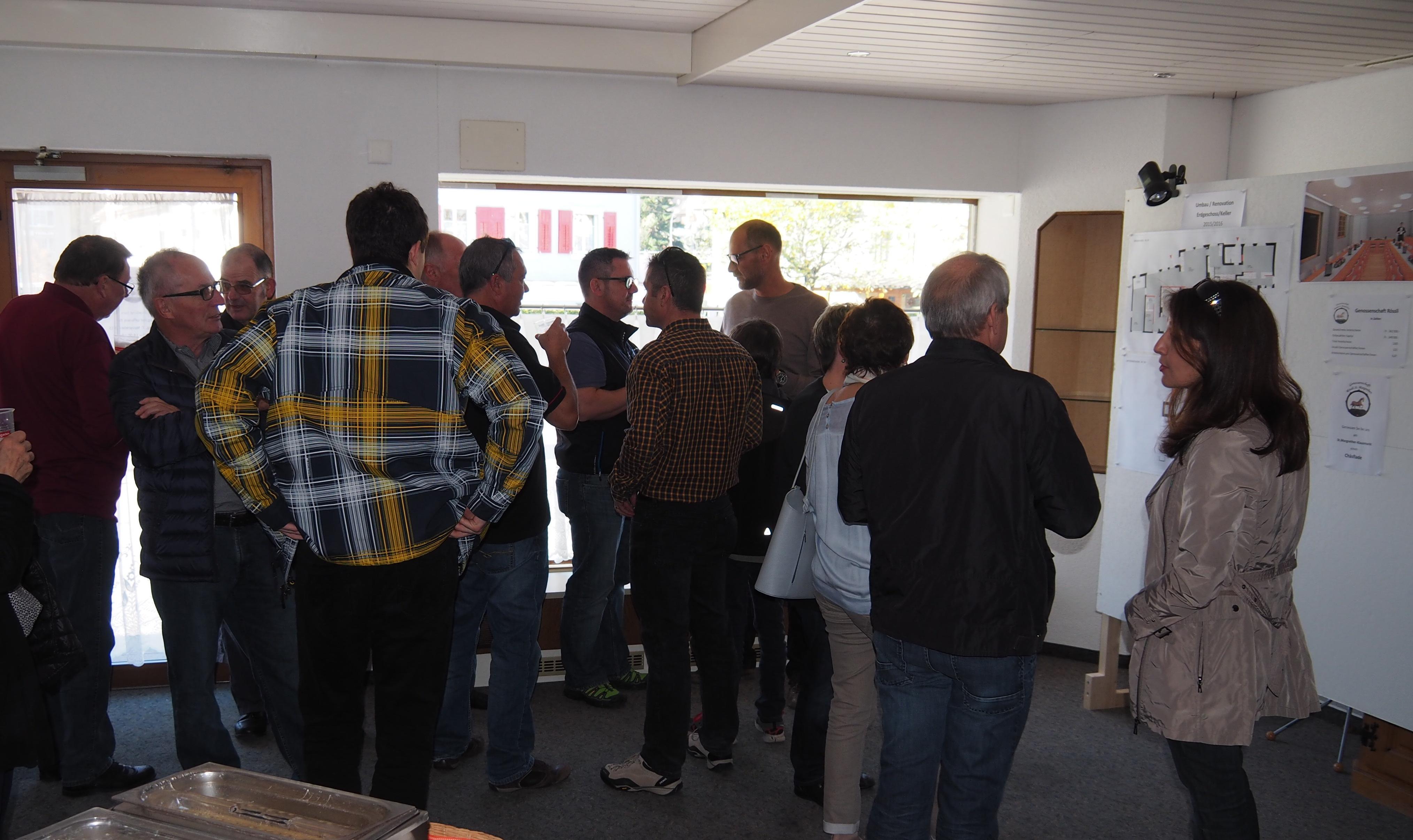 Genossenschaft Rössli - Tag der offenen Tür - 7. November 2015