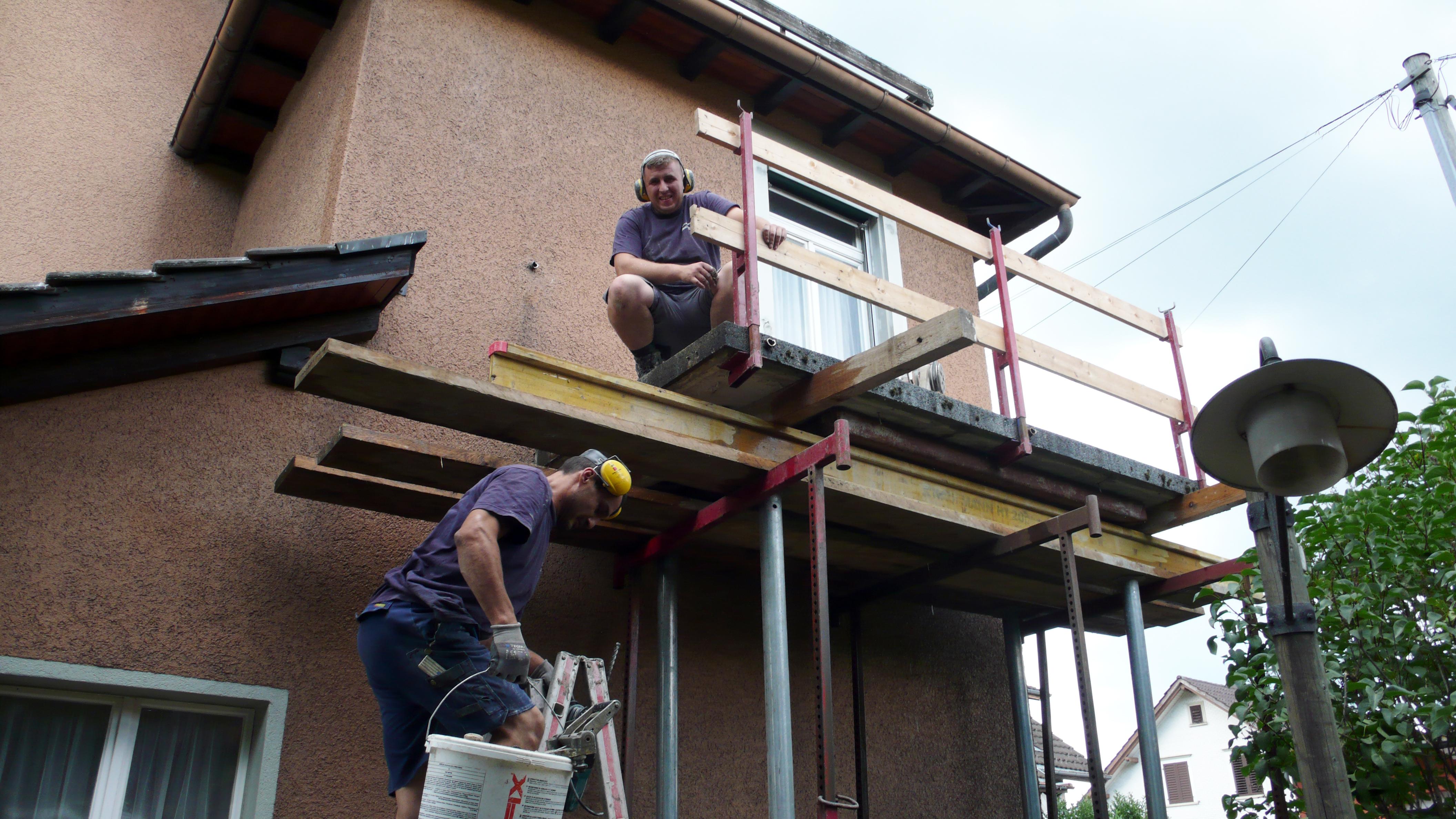 Beginn der Renovationsarbeiten